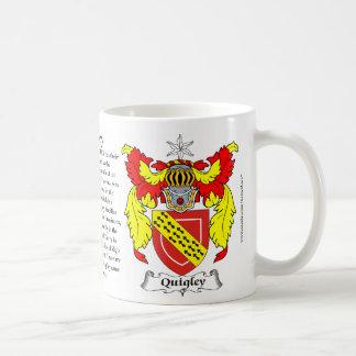Escudo de armas de la familia de Quigley Taza De Café