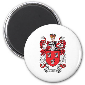 Escudo de armas de la familia de Robertson Imán Redondo 5 Cm
