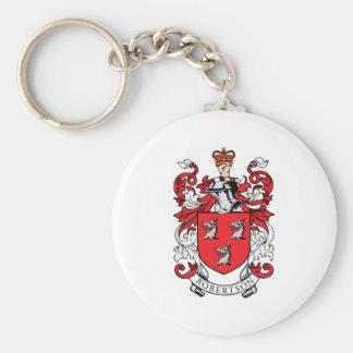 Escudo de armas de la familia de Robertson Llavero Redondo Tipo Pin