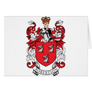 Escudo de armas de la familia de Robertson Tarjeta De Felicitación
