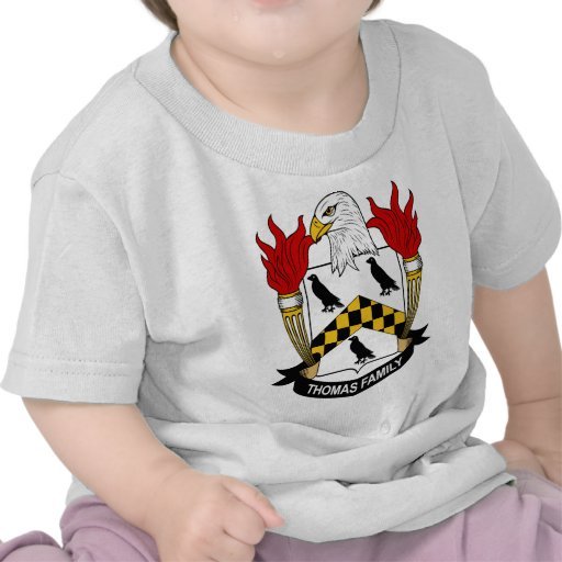 Escudo de armas de la familia de Thomas Camiseta