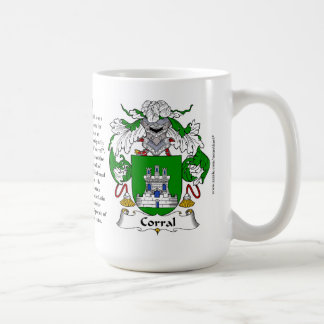 Escudo de armas de la familia del corral taza