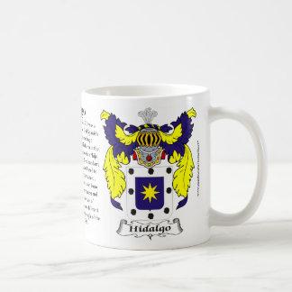 Escudo de armas de la familia del Hidalgo Tazas De Café