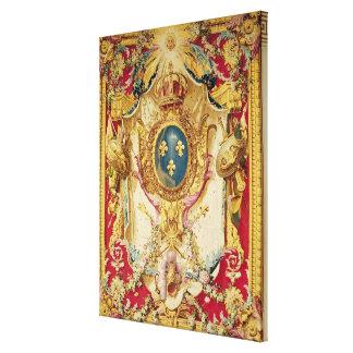 Escudo de armas de la familia real francesa lona envuelta para galerias