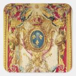 Escudo de armas de la familia real francesa calcomania cuadradas personalizadas
