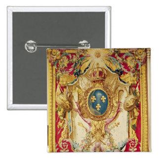 Escudo de armas de la familia real francesa pin cuadrada 5 cm