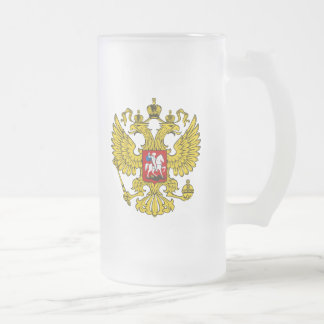 Escudo de armas de la Federación Rusa Taza De Cristal