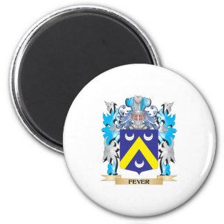 Escudo de armas de la fiebre - escudo de la imanes de nevera