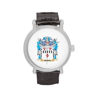 Escudo de armas de la flecha relojes de pulsera