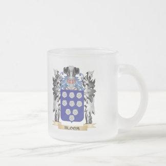 Escudo de armas de la floración - escudo de la taza cristal mate