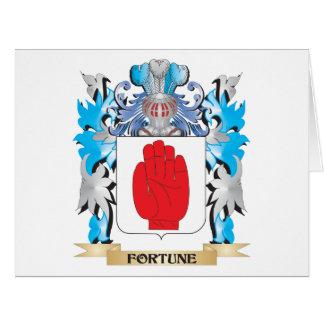 Escudo de armas de la fortuna - escudo de la tarjetas