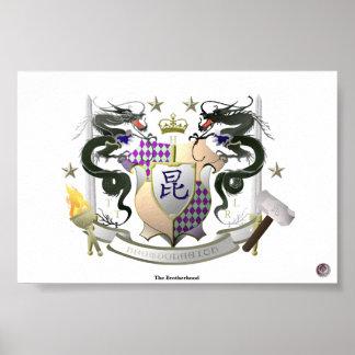 Escudo de armas de la fraternidad póster