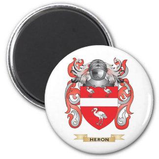 Escudo de armas de la garza (escudo de la familia) imanes de nevera