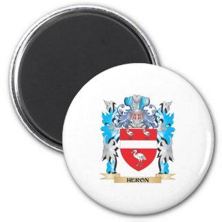 Escudo de armas de la garza - escudo de la familia iman para frigorífico