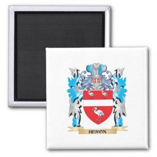 Escudo de armas de la garza - escudo de la familia imán de frigorifico