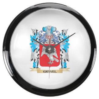 Escudo de armas de la grava - escudo de la familia reloj aqua clock