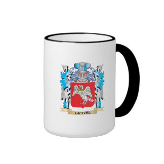 Escudo de armas de la grava - escudo de la familia tazas de café