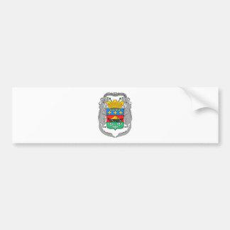 Escudo de armas de la Guayana Francesa Pegatina Para Auto