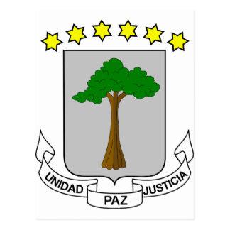 Escudo de armas de la Guinea Ecuatorial Tarjeta Postal