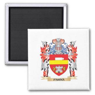 Escudo de armas de la harina de cereales - escudo imán cuadrado
