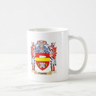 Escudo de armas de la harina de cereales - escudo taza de café