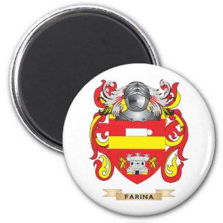 Escudo de armas de la harina de cereales imanes