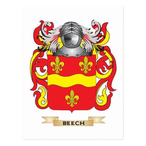 Escudo de armas de la haya (escudo de la familia) postales