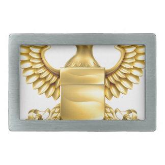 Escudo de armas de la heráldica de Eagle Hebilla De Cinturon Rectangular