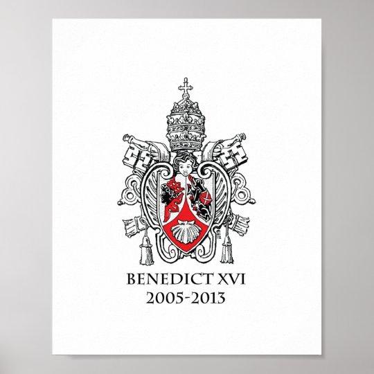 Escudo de armas de la impresión del papa Benedicto
