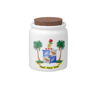 Escudo de armas de la isla de Cocos Platos Para Caramelos