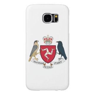 Escudo de armas de la Isla de Man Fundas Samsung Galaxy S6