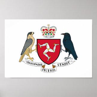 Escudo de armas de la Isla de Man Póster