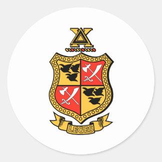 Escudo de armas de la ji del delta etiqueta