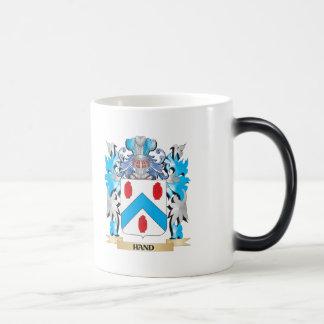 Escudo de armas de la mano - escudo de la familia taza de café
