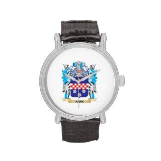 Escudo de armas de la marca - escudo de la familia reloj de mano