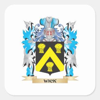 Escudo de armas de la mecha - escudo de la familia pegatina cuadrada