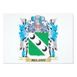 Escudo de armas de la melodía - escudo de la comunicados personalizados