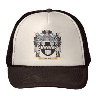 Escudo de armas de la pista - escudo de la familia gorros
