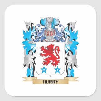 Escudo de armas de la prisa - escudo de la familia pegatina cuadradas