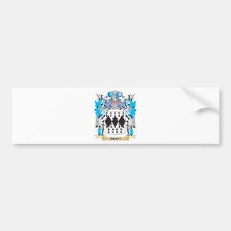 Escudo de armas de la puntilla - escudo de la pegatina de parachoque