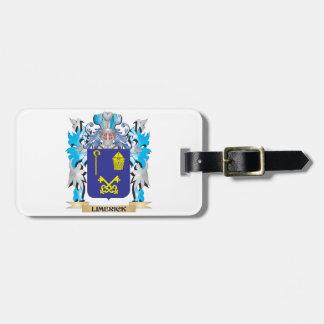 Escudo de armas de la quintilla - escudo de la etiquetas para maletas