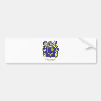 Escudo de armas de la quintilla escudo de la fami etiqueta de parachoque