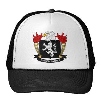 Escudo de armas de la raza/escudo de la familia gorros