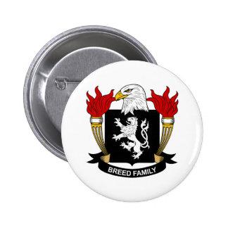 Escudo de armas de la raza/escudo de la familia pin