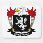 Escudo de armas de la raza/escudo de la familia alfombrillas de raton
