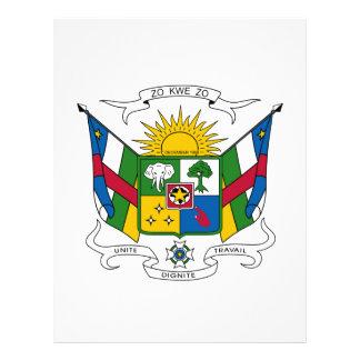 Escudo de armas de la República Centroafricana Plantillas De Membrete