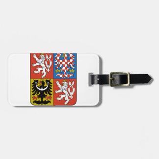 Escudo de armas de la República Checa Etiqueta Para Maleta