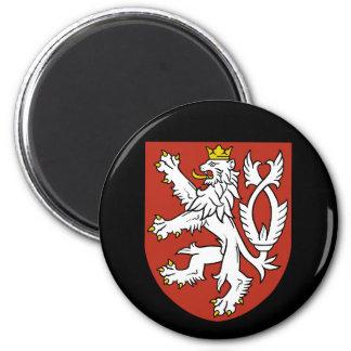 Escudo de armas de la República Checa Imán Redondo 5 Cm