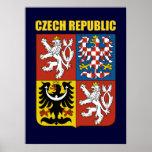Escudo de armas de la República Checa Póster