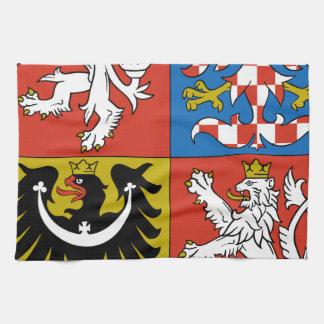 Escudo de armas de la República Checa Toallas De Mano
